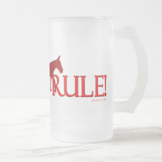 Mules Rule Mule Silhouette 16 Oz Frosted Glass Beer Mug