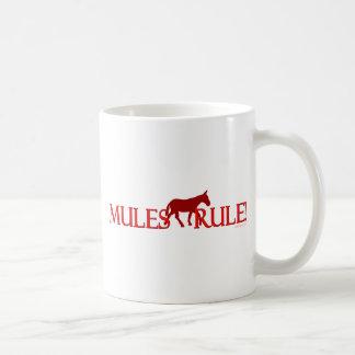 Mules Rule Silhouette Classic White Coffee Mug