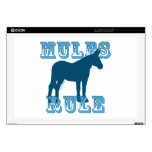 """Mules Rule Silhouette Decals For 17"""" Laptops"""