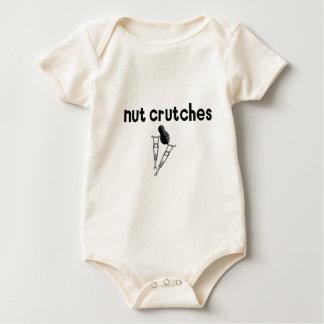 Muletas de la nuez body para bebé