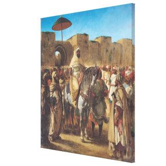 Muley Abd-AR-Rhaman, el sultán de Marruecos Impresiones En Lona