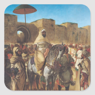 Muley Abd-ar-Rhaman , The Sultan of Morocco Square Sticker