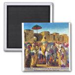 Muley Abder Rahman rodeado por sus escoltas Imanes De Nevera