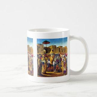 Muley Abder Rahman rodeado por sus escoltas Tazas De Café