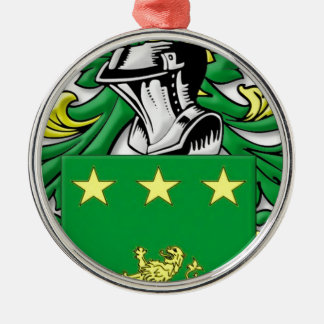 Mulhall Coat of Arms Round Metal Christmas Ornament