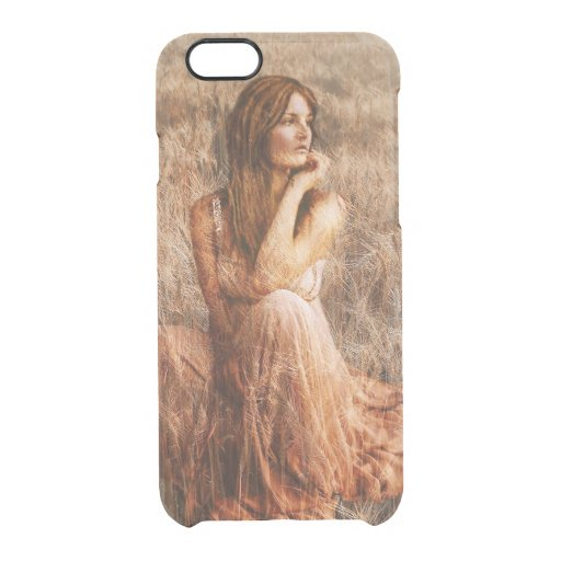 mulher no campo clear iPhone 6/6S case