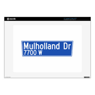 Mulholland Drive, Los Angeles, CA Street Sign Laptop Decal