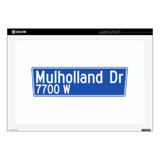 Mulholland Drive, Los Angeles, CA Street Sign Decals For Laptops
