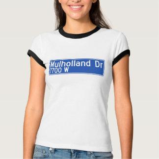 Mulholland Drive, Los Angeles, CA Street Sign T-Shirt