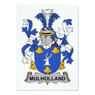 Mulholland Family Crest Card