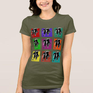 Muli-Colored Tap Grid T-Shirt