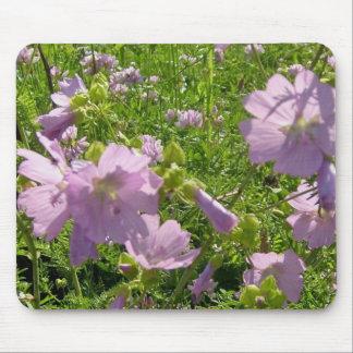 Muli-Flores salvajes Mousepad de la púrpura