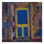 Mulit-Color Puzzle Door on Canvas Poster