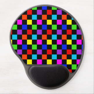 Mulit-colored Neon Checker Gel Mouse Pad