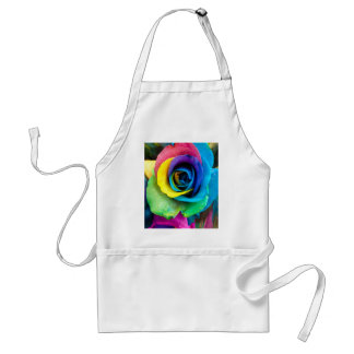 Mulit-Colored Rose by SnapDaddy, can Personalize! Adult Apron