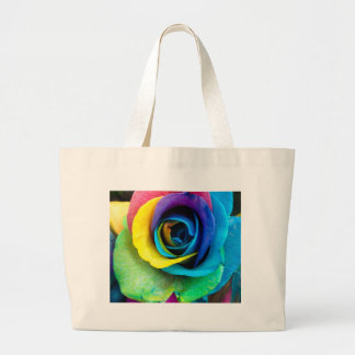 Mulit-Colored Rose by SnapDaddy, can Personalize! Large Tote Bag
