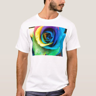 Mulit-Colored Rose by SnapDaddy, can Personalize! T-Shirt