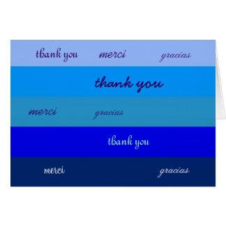 Mulit-Lingual Thank You Card