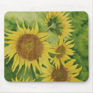 mulit sunflowers mouse pad