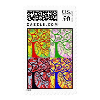 Mulit Tree Of Life Hamsa Stamp