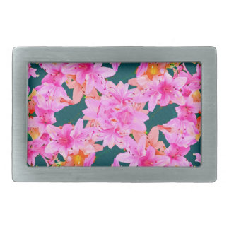 Mulitcolored Floral Pattern Belt Buckles