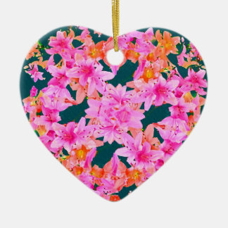 Mulitcolored Floral Pattern Christmas Ornaments
