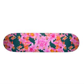 Mulitcolored Floral Pattern Custom Skate Board