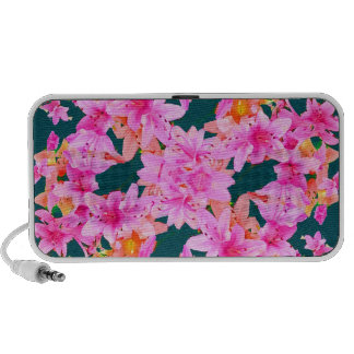 Mulitcolored Floral Pattern iPod Speakers