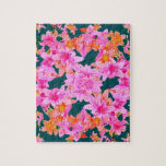 Mulitcolored Floral Pattern Jigsaw Puzzles