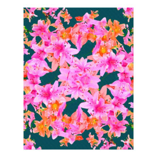 Mulitcolored Floral Pattern Personalized Letterhead