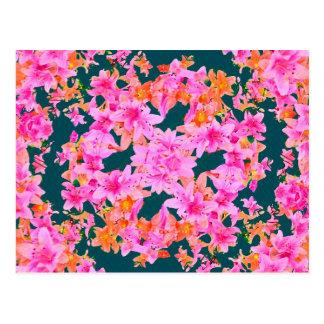 Mulitcolored Floral Pattern Postcard