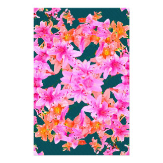 Mulitcolored Floral Pattern Stationery Paper