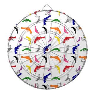 Mulitcolored gun pattern dartboard