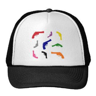 Mulitcolored gun pattern hats