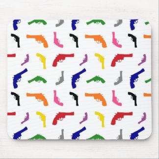Mulitcolored gun pattern mousepads