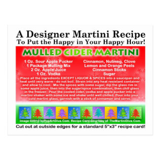 Mulled Cider Christmas Martini Recipe Postcard