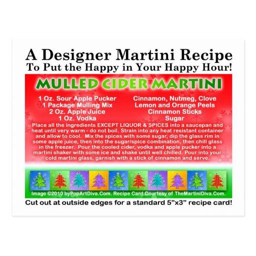 Mulled Cider Christmas Martini Recipe Postcard