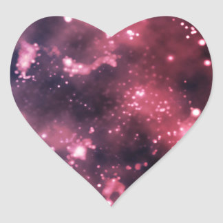 Mulled Galaxy Heart Sticker