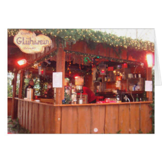 Mulled Wine Booth in Hamburg Greeting Card