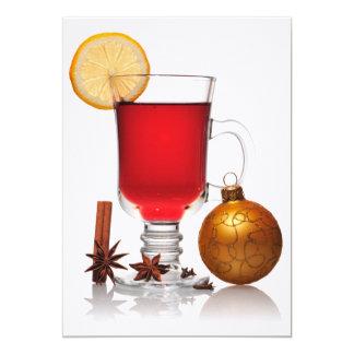 Mulled wine christmas still 5x7 paper invitation card