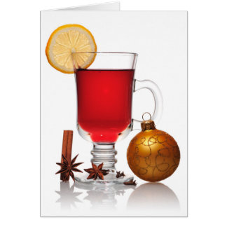 Mulled wine christmas still greeting card