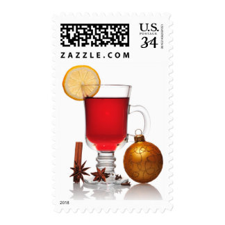 Mulled wine christmas still postage