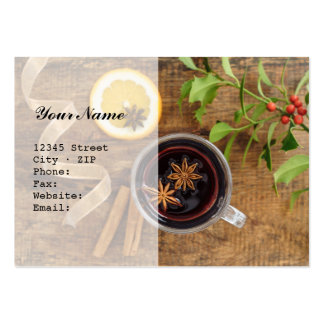 Mulled wine large business card