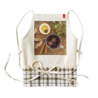 Mulled wine zazzle HEART apron