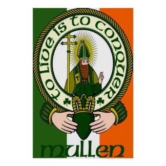 Mullen Clan Motto Poster Print