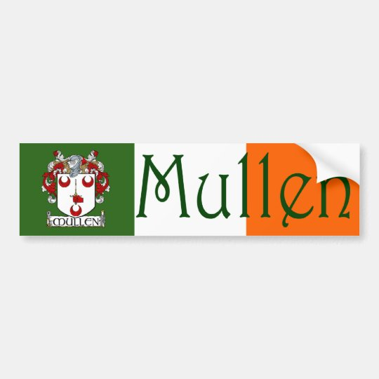 Mullen Coat of Arms Flag Bumper Sticker