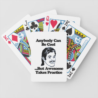 Mullet, Anybody can be cool but awesome... Bicycle Playing Cards