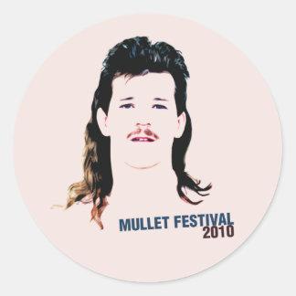 Mullet Festival 2010 Classic Round Sticker