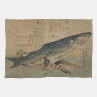 Mullet Fish Japanese Art Image Kitchen Towel