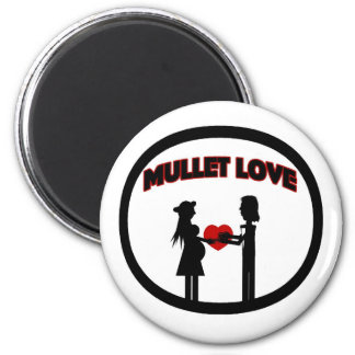 Mullet Love 2 Inch Round Magnet